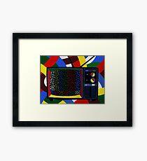 Colorful Sprinkle TV Testing Pattern Framed Print