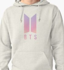 BTS Coloured logo Pullover Hoodie