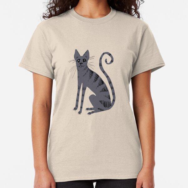 Grey Tiger Cat Classic T-Shirt