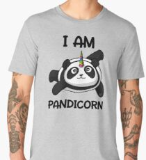 Pandicorn Funny Panda Bear Cartoon Fantasy Rainbow Men's Premium T-Shirt