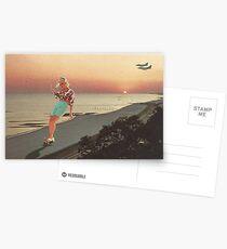 Skaten am Ufer Postkarten