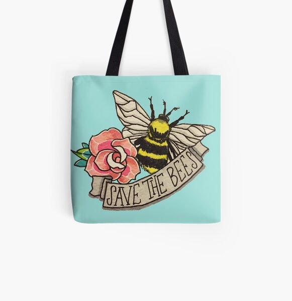 SAVE the Bees! All Over Print Tote Bag
