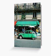 Le Splendid 2CV - Paris Greeting Card