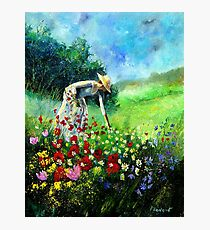 picking flowers Photographic Print