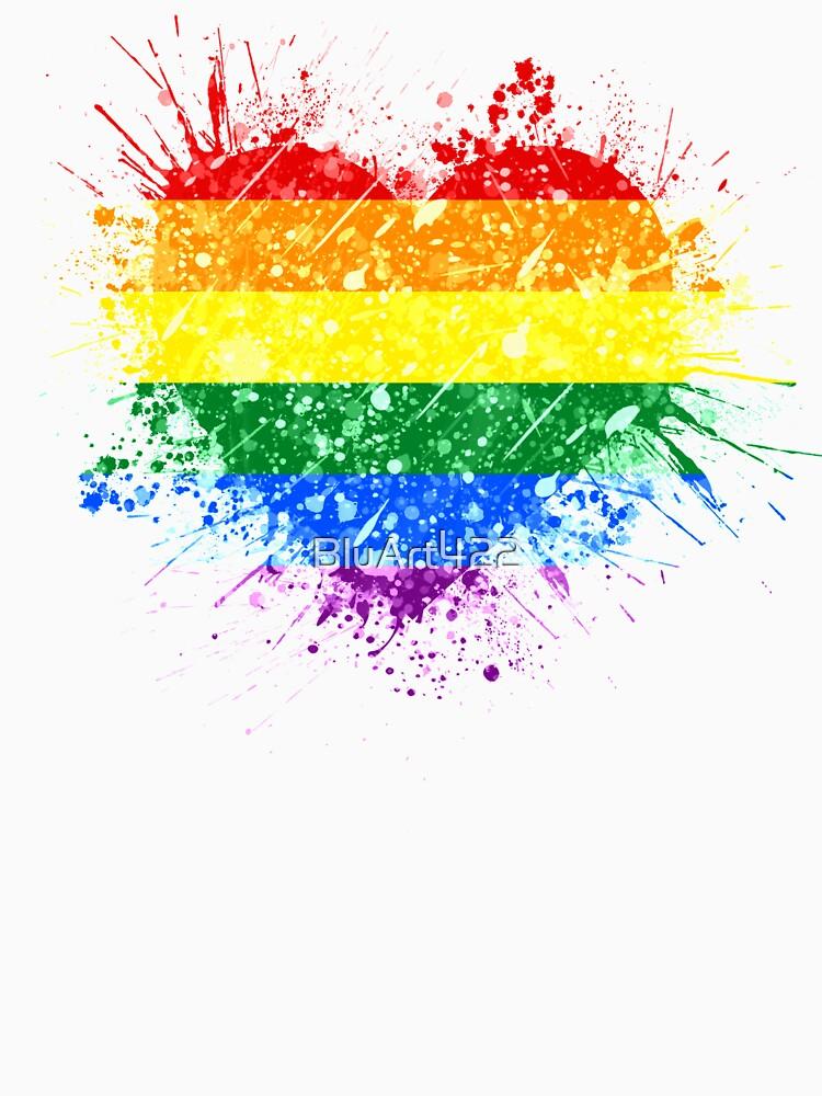 Rainbow Heart Pride by BluArt422