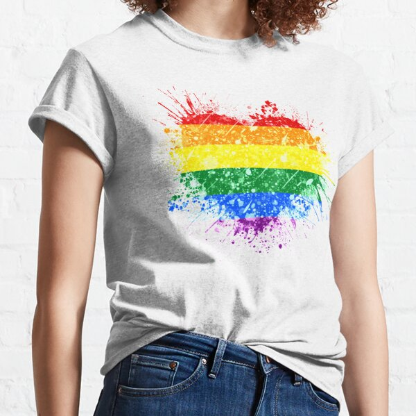 Rainbow Heart Pride Classic T-Shirt