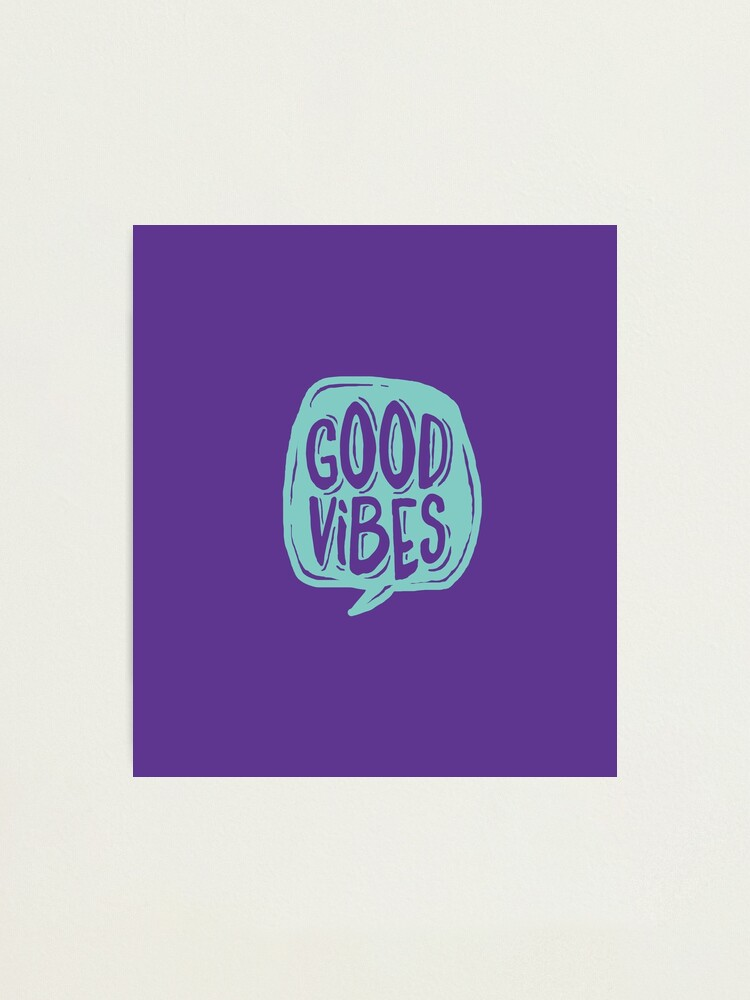 Alternate view of Good Vibes - Turquoise and purple Photographic Print
