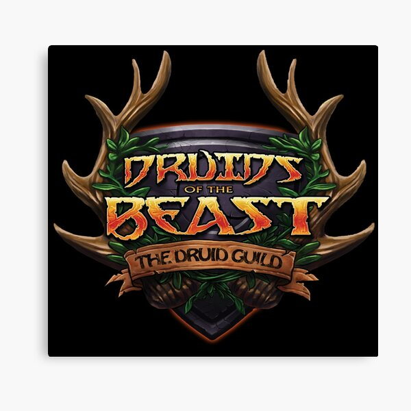 Druids of the Beast Crest Canvas Print