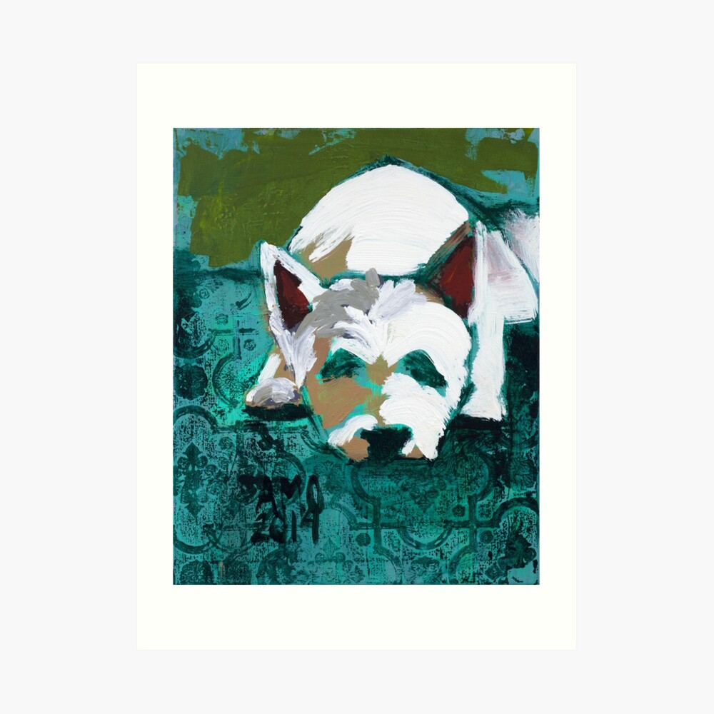 Jake the Westie Art Print