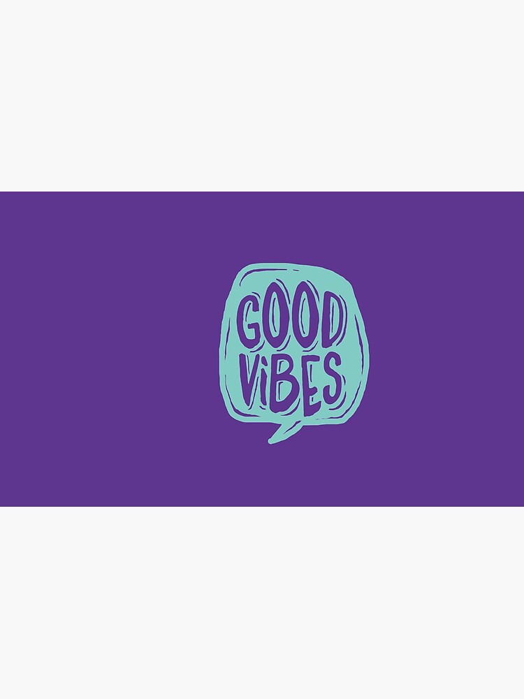 Good Vibes - Turquoise and purple by mirunasfia