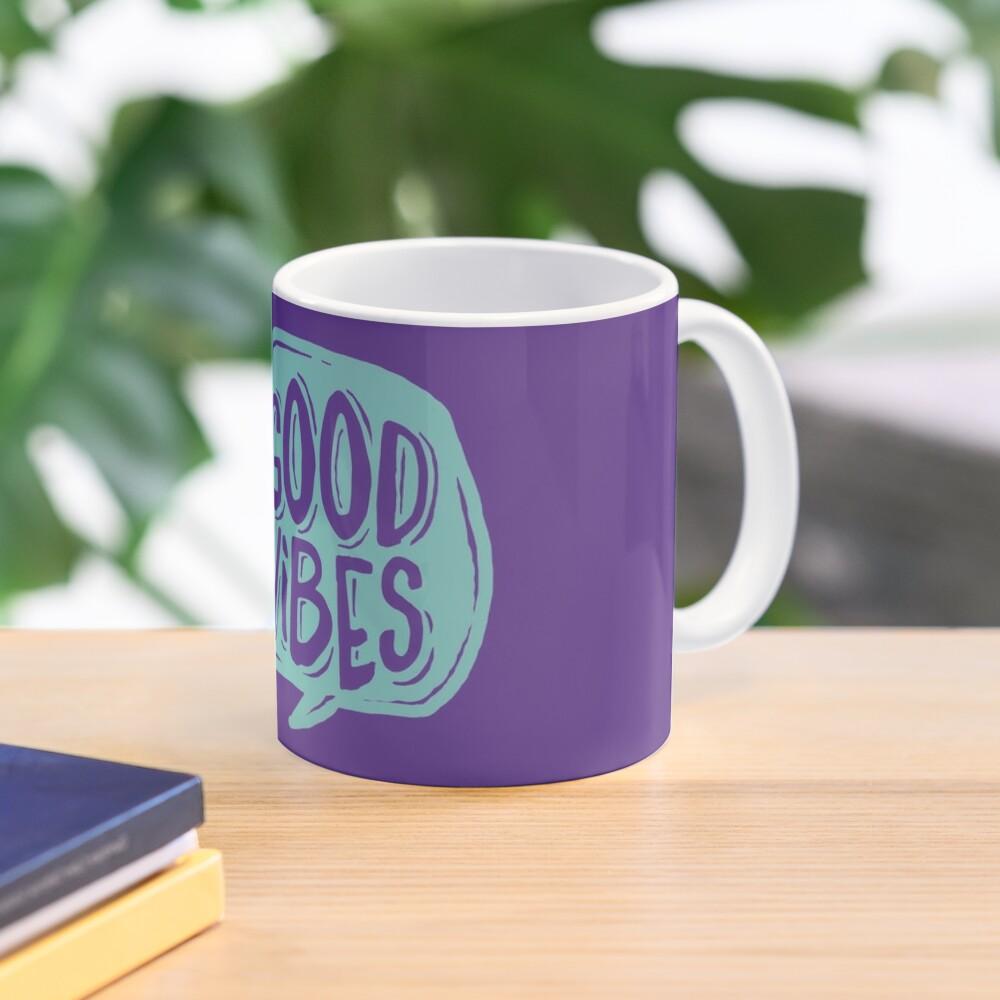 Good Vibes - Turquoise and purple Mug