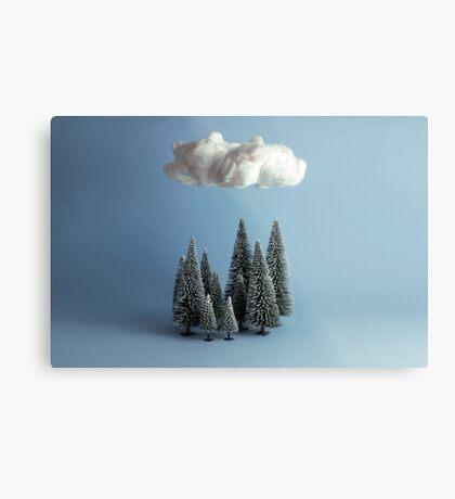 Eine Wolke über dem Wald Metallbild