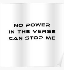 No Power in the Verse Can Stop Me Poster