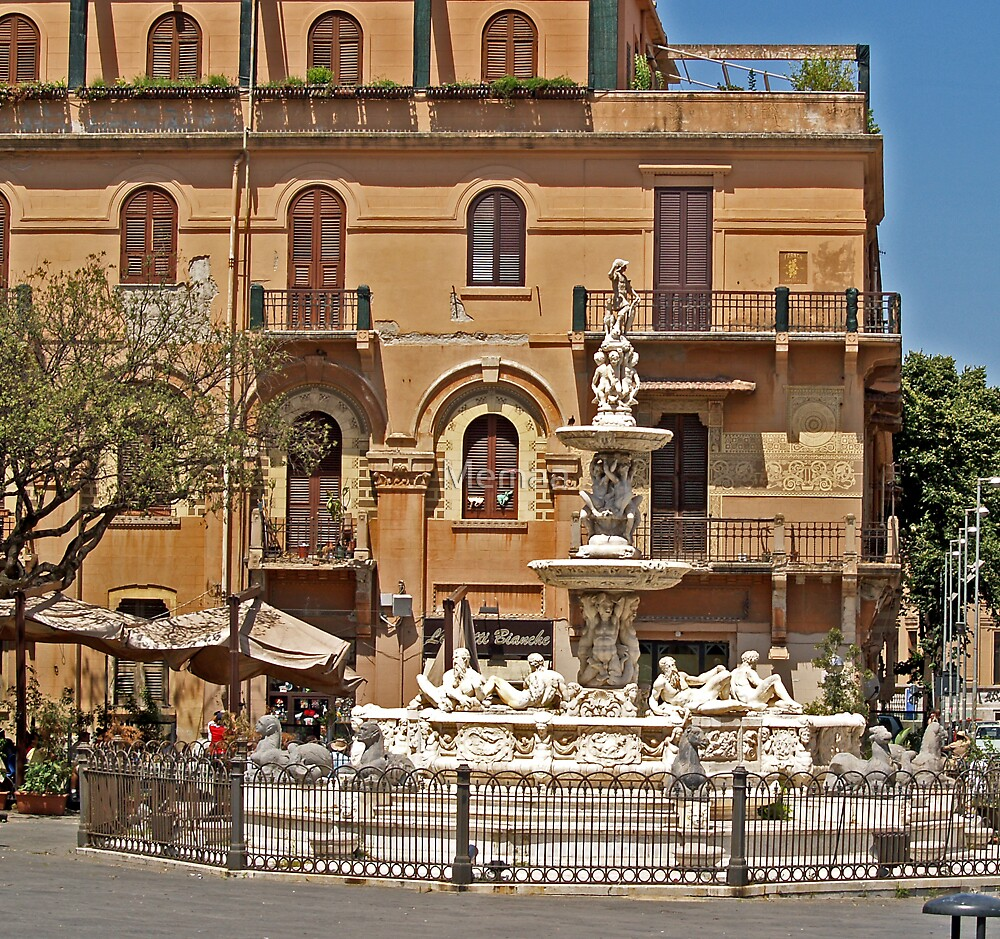 Messina Hotel and Fountain by Memaa