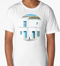White and blue town Long T-Shirt