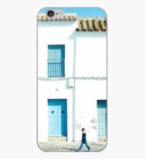 Weiße und blaue Stadt iPhone-Hülle & Cover
