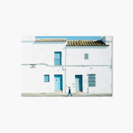 White and blue town Art Board Print