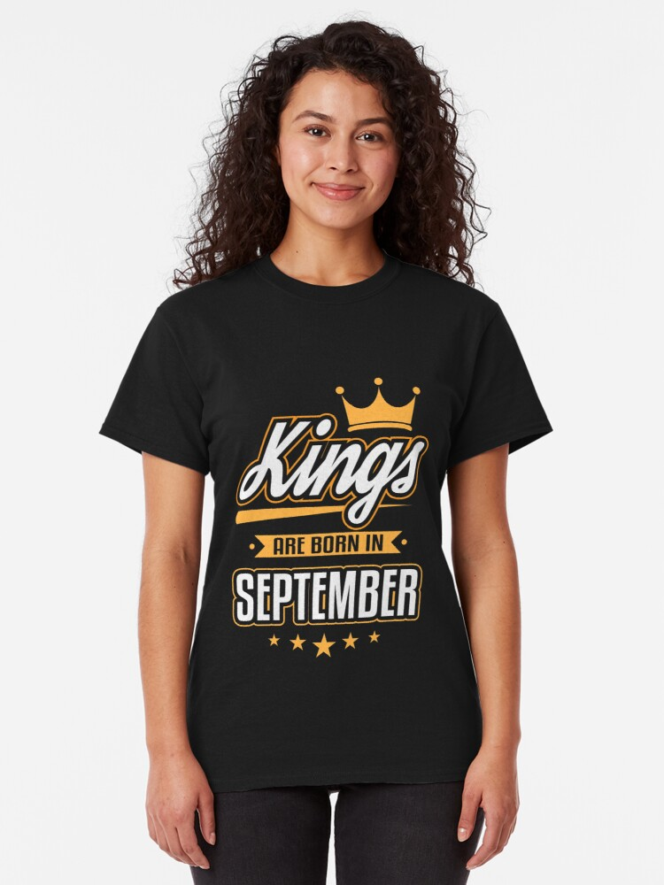 Kings are Born in September Premium Unisex Sweatshirt