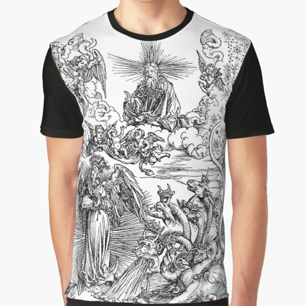 HD The Woman Clothed with the Sun and the Seven-headed Dragon -  Graphic T-Shirt