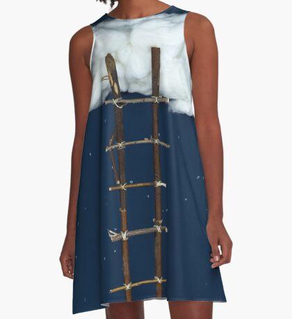 Treppe zu den Wolken A-Linien Kleid