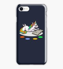 Cute Unicorn Funny Motivational Book Reading Lover iPhone Case/Skin