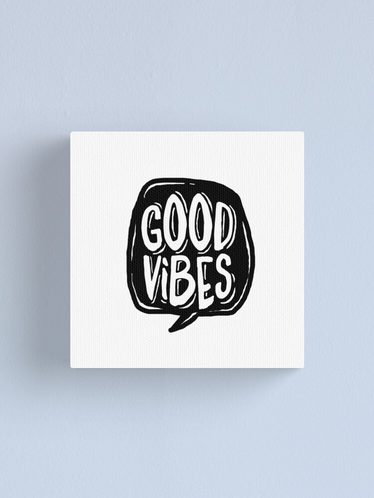 Alternate view of Good Vibes - Black and White Canvas Print