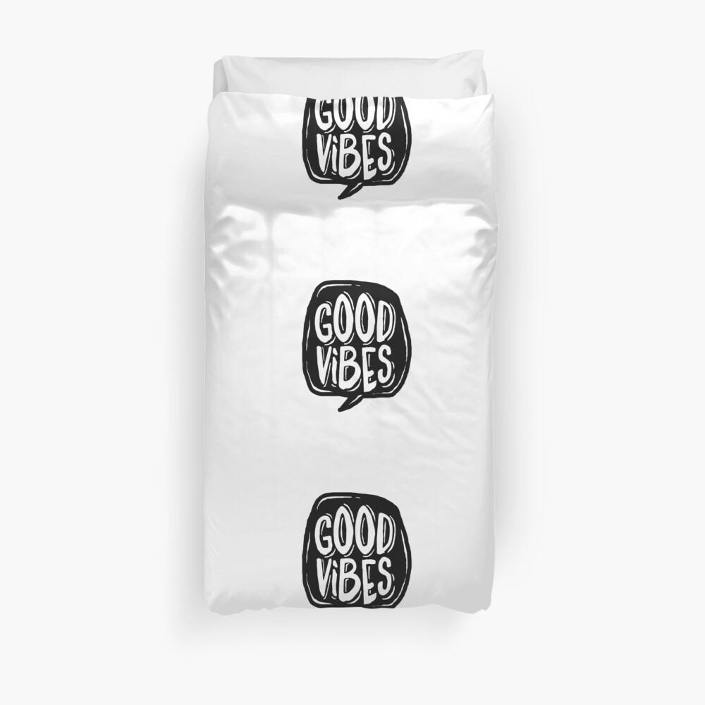 Good Vibes - Black and White Duvet Cover