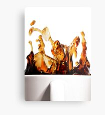 A Splash of Coffee Metal Print