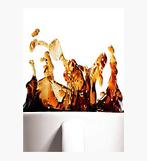 A Splash of Coffee Photographic Print