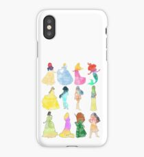 Princesses watercolor iPhone Case/Skin