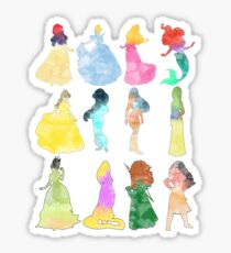 Princesses watercolor Sticker