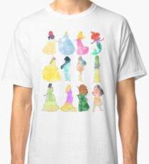 Princesses watercolor Classic T-Shirt