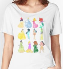 Princesses watercolor Women's Relaxed Fit T-Shirt