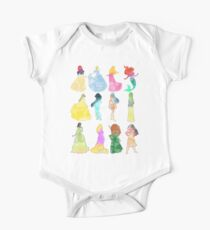 Princesses watercolor One Piece - Short Sleeve
