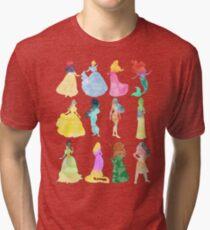 Princesses watercolor Tri-blend T-Shirt