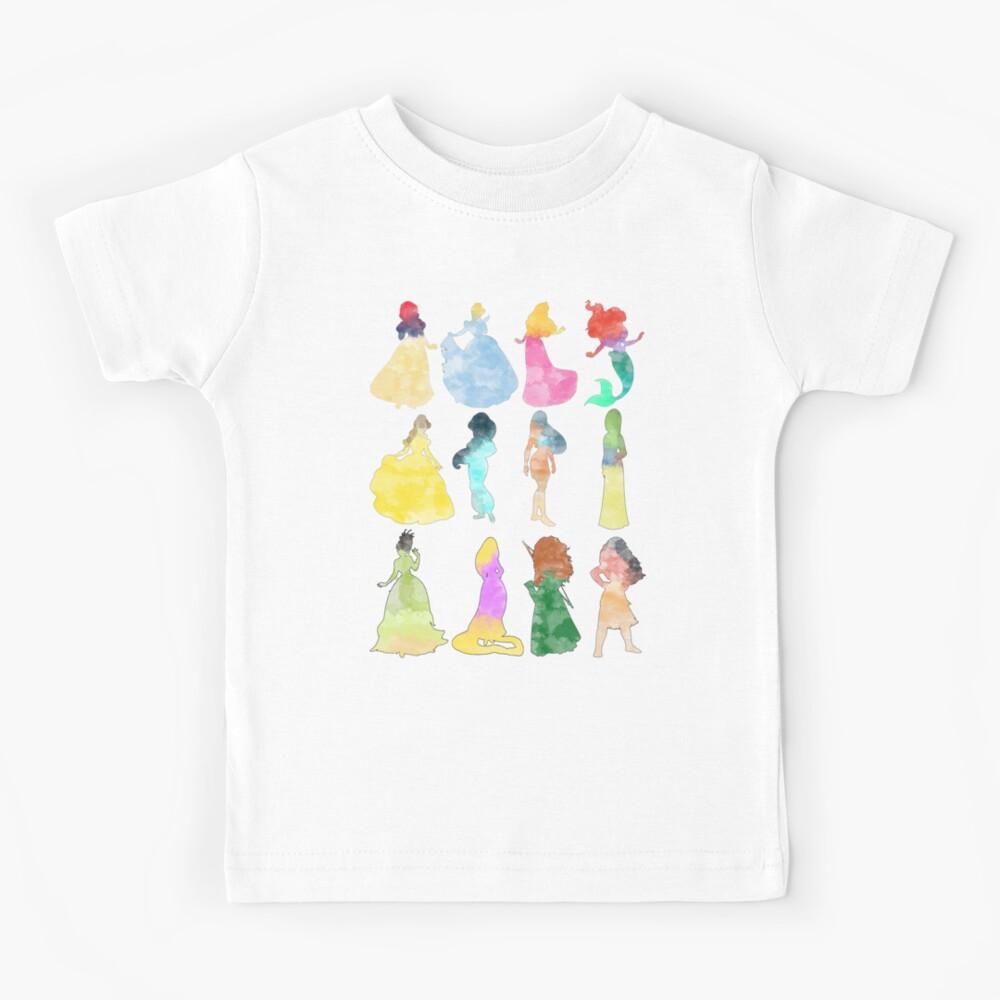 Prinzessinnen Aquarell Kinder T-Shirt