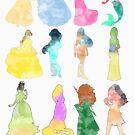 Prinzessinnen Aquarell von Becca Cook