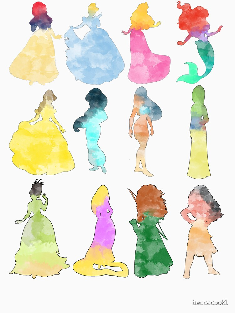 Prinzessinnen Aquarell von beccacook1
