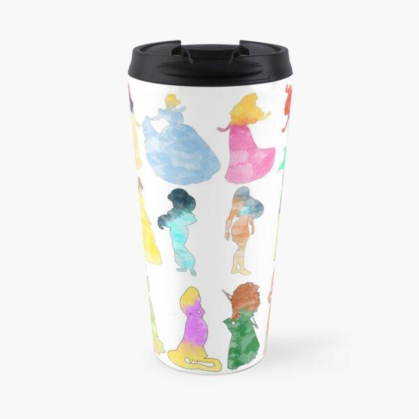 Princesses watercolor Travel Mug