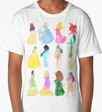 Princesses watercolor Long T-Shirt