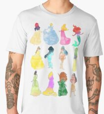 Princesses watercolor Men's Premium T-Shirt
