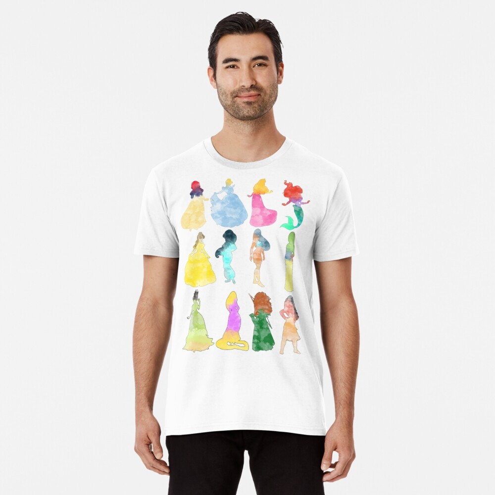 Prinzessinnen Aquarell Premium T-Shirt