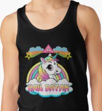 Camiseta de tirantes Unicornio granizo satan death metal rainbown camiseta