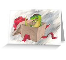 An Allosaurus Present Greeting Card