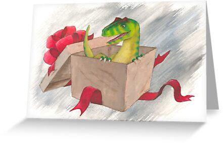 An Allosaurus Present by Bart Castle
