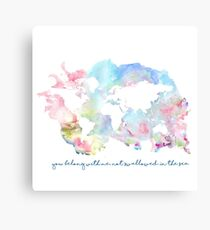 You belong with me not swallowed in the sea Canvas Print