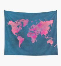 world map art 10 Wall Tapestry