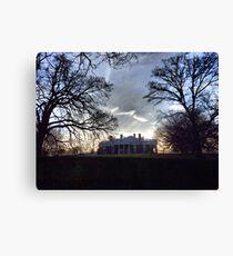 December Twilight at Monticello Canvas Print