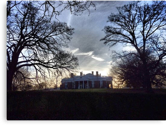 December Twilight at Monticello by Marielle Valenzuela