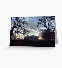 December Twilight at Monticello Greeting Card